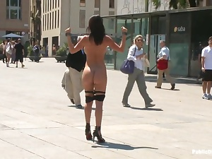 Brashly Pet Franceska Jaimes is Publicly Caned and Fucked