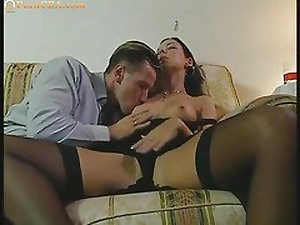 Fabulous stunner fucked anal firm