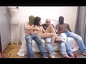 DZ  Half-starved FRENCH GANGBANG 01 Itty-bitty ANAL