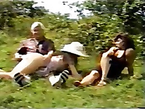 British Materfamilias & Daughter Spanked Outdoors