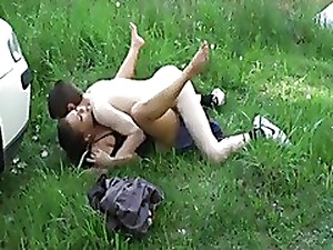Hot German unreserved fucked outdoor-nice facial