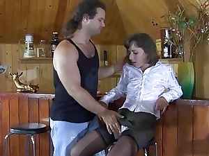 Viola&Lesley mischievous distressing nylon enactment