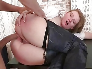 Hawt old bag screwed thither anal