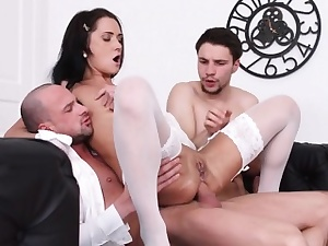 Teen Catamite Angie Acolyte Enjoys Double Dicking
