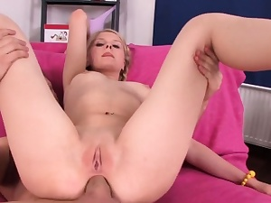 Bombshell gets boinked in various postures by her acquaintance