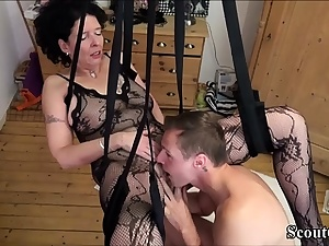 German Step-Son Fuck Mommy with Stocking in Love Sway