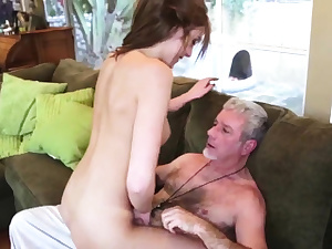 Father gobbles chum' boss's daughters gash and real mom