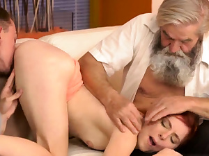 Nubile elder man Sudden practice with an older fella