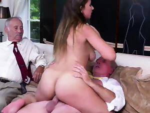 Father girl Ivy amazes with her meaty udders and booty
