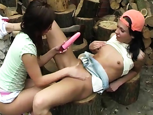 Mature public dump and teen damsels caught by lesbo hard-core
