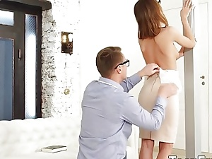 Smoking Super-steamy Young Girlfriend Hazel Dew Receives a Fervid Anal invasion Boinking