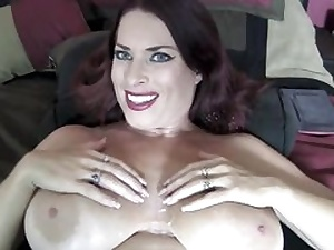 Mature bitch gets tit screwed and glazed in spunk shots all over