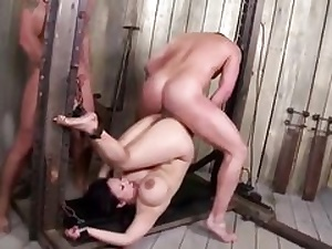 Super-naughty hefty jugged Japanese cougar boned harsh in a nasty three way