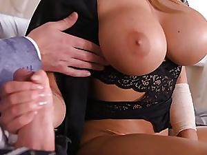 Immense breasted blondie, Chlo is about to have super-steamy fuck-a-thon with Tarzan, in her new apartment