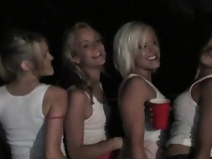 Hot blondes drinking together back bonking just about lesbo orgy